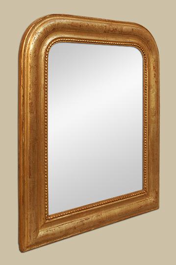 petit miroir ancien dor patin la feuille. Black Bedroom Furniture Sets. Home Design Ideas