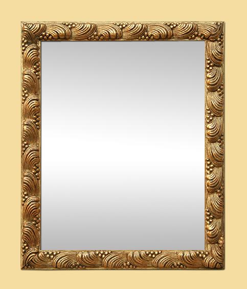 Petit miroir dor ancien style 1900 d cor coquillages for Petit miroir dore
