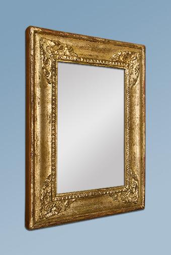 Petit miroir ancien dor patin for Restauration miroir ancien