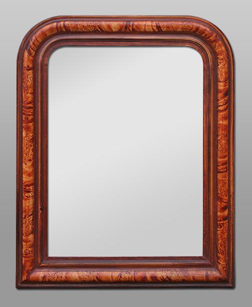 Glace miroir chemin e louis philippe dorure la feuille for Glace miroir moderne