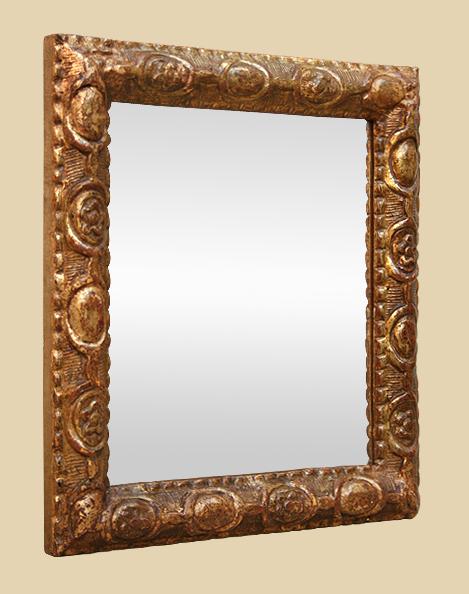 Petit miroir ancien louis xvi fin 18 me bois dor for Miroir xviii