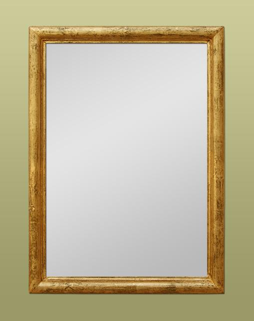 petit miroir ancien dor patin