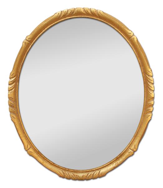 Petit miroir ovale bois dor style montparnasse for Miroir bois ovale