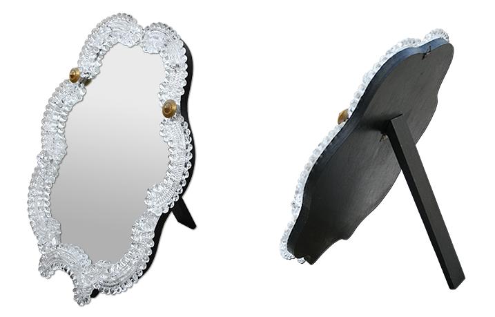 petit miroir ancien ventien en verre murano. Black Bedroom Furniture Sets. Home Design Ideas