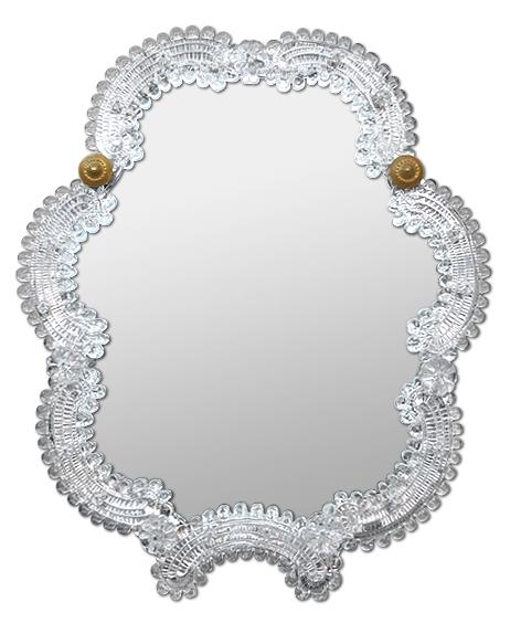 petit miroir ancien ventien en verre murano