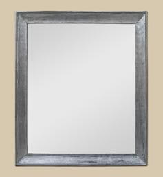 Cadre miroir bois argenté patiné