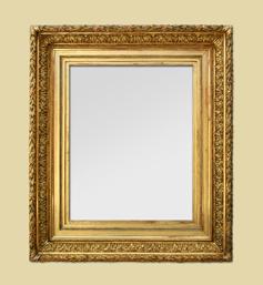 Cadre miroir doré barbizon