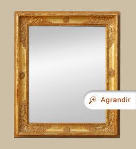 Glace miroir ancien d'époque Restauration bois doré