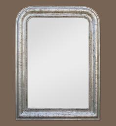 Miroir style Louis Philippe argenté