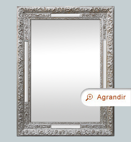 miroir ancien 1900 argent patin miroirs anciens. Black Bedroom Furniture Sets. Home Design Ideas