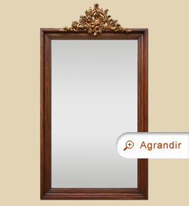 Grand miroir en bois maison design for Grand miroir gris