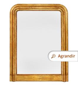 Grand miroir ancien cheminee bois doré louis-philippe