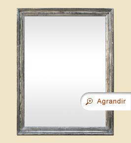 Grand miroir ancien dorure argenté patiné époque 19ème