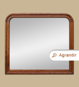 Grand miroir ancien en bois pitchpin