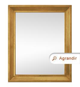 Grand miroir laiton ancien