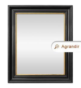 Grand miroir ancien noir marie-louise-doré époque Napoléon 3