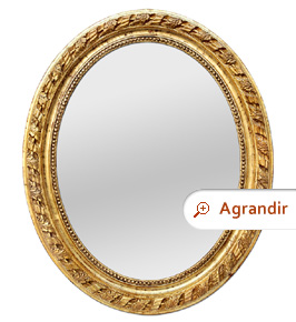 grand-miroir-ancien-ovale-bois-dore-style-napoleon-III-1860