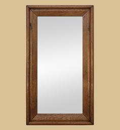 Grand miroir bois chêne mouluré