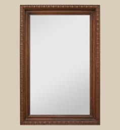 Grand miroir en bois à décor de godrons