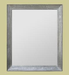 Miroir en bois mouluré argenté à la feuille