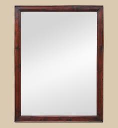 Grand miroir bois pitchpin acajou