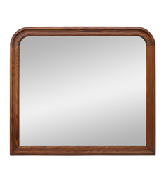 Grand miroir bois pitchpin bords arrondis