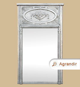 grand miroir chemin e trumeau style art nouveau miroirs anciens. Black Bedroom Furniture Sets. Home Design Ideas
