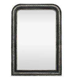 grand-miroir-cheminee-argente-noir-patine