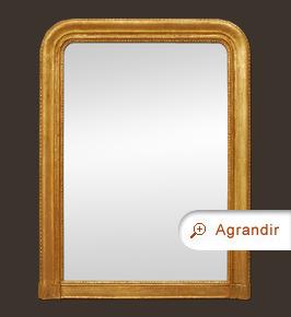 Grand miroir cheminée doré époque Louis-Philippe