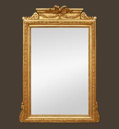grand-miroir-cheminee-dore-fronton-napoleon-3
