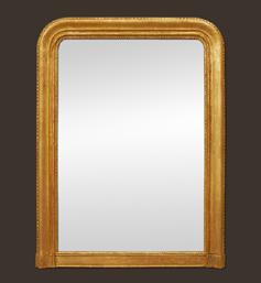 grand-miroir-cheminee-dore-louis-philippe-godrons-et-perles