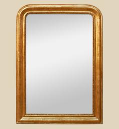 Grand miroir cheminée doré style Louis Philippe