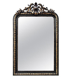 grand-miroir-cheminee-dore-noir-epoque-napoleon-III