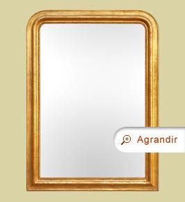 Grand miroir cheminée Louis-philippe doré ancien