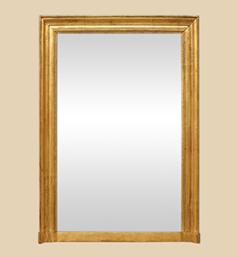 Grand miroir cheminée doré d'époque Louis Philippe