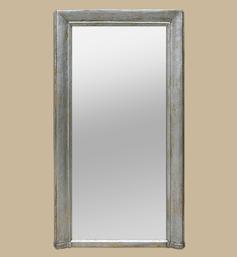 Grand miroir cheminée ancien argenté patiné