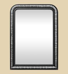 grand-miroir-cheminee-style-napoleon-3-noir-et-argent