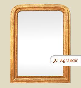 Grand miroir Louis Philippe ancien dorure patiné