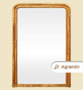 Grand miroir Louis Philippe doré cheminée