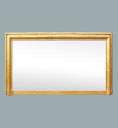 Large miroir de cheminée mouluré doré ancien