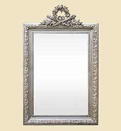 miroir-agente-patine-decor-fronton-style-louis-xvi