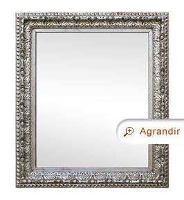 Miroir ancien argenté décor années 1930