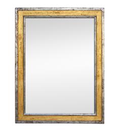 Miroir ancien doré et argenté