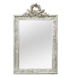 miroir-ancien-argente-fronton-1900