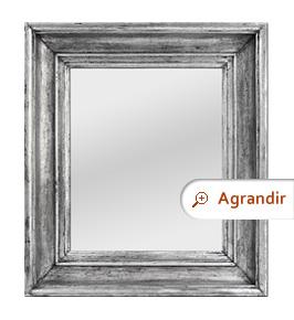 Miroir ancien argenté patiné