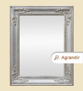 Miroir ancien argenté style Restauration fin 19ème
