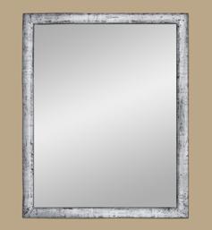 Miroir ancien bois argenté patiné