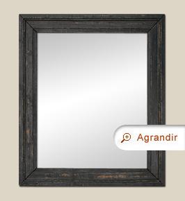 Miroir bois noirci ancien patiné époque 19 ème