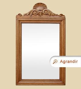Miroir ancien bois sculpté à fronton