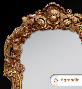 miroir ancien bois sculpt miroirs anciens. Black Bedroom Furniture Sets. Home Design Ideas
